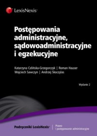 Postępowania administracyjne, sądowoadministracyjne i egzekucyjne - okładka książki