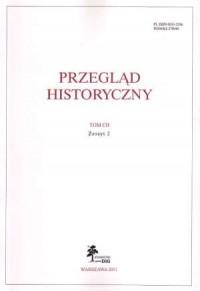 Przegląd historyczny. Tom CII. Zeszyt 2 / 2011 - okładka książki