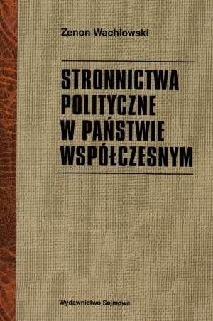 Stronnictwa polityczne w państwie - okładka książki