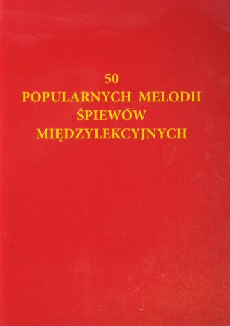 50 popularnych melodii śpiewów - okładka książki
