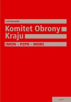 Komitet Obrony Kraju (MON - PZPR - okładka książki