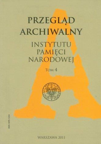 Przegląd Archiwalny Instytutu Pamięci - okładka książki