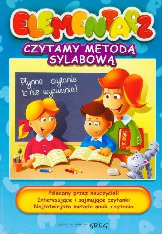 Elementarz. Czytamy metodą sylabową - okładka podręcznika