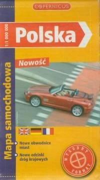 Polska (mapa samochodowa 1:1 000 000) - okładka książki