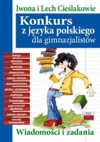 Konkurs z języka polskiego dla - okładka podręcznika