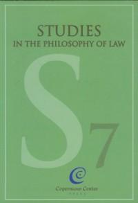 Studies in the philosophy of law vol. 7 - okładka książki