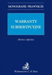 Warranty subskrypcyjne - okładka książki