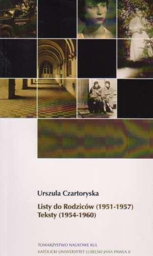 Listy do Rodziców (1951-1957). - okładka książki