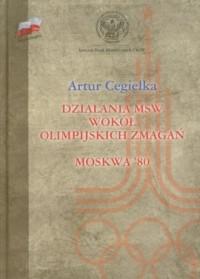 Działania MSW wokół olimpijskich - okładka książki