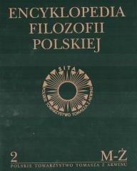 Encyklopedia filozofii polskiej. - okładka książki