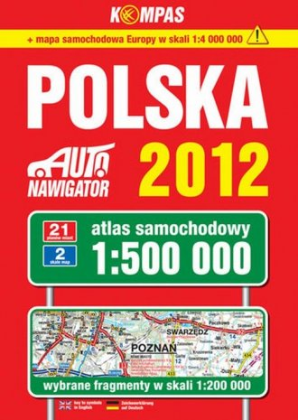 Polska. Atlas samochodowy 2012 - okładka książki