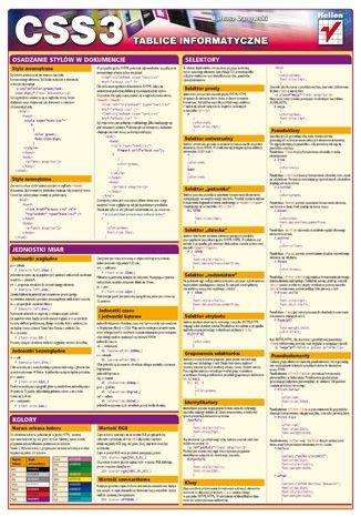 Tablice informatyczne. CSS3 - okładka książki