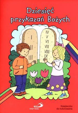 ksi��ka -  Dziesi�� przykaza� Bo�ych. Ksi��eczka do kolorowania - Marek Sojka