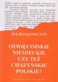 Oświęcimskie niemieckie czy też - okładka książki