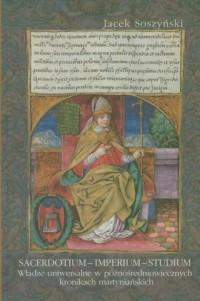 Sacerdotium Imperium Studium - okładka książki