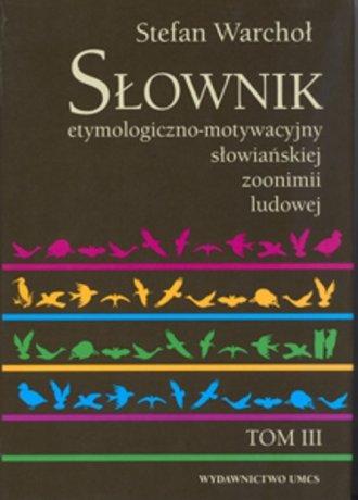 Słownik etymologiczno-motywacyjny - okładka książki
