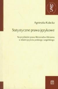 Statystyczne prawa językowe - okładka książki