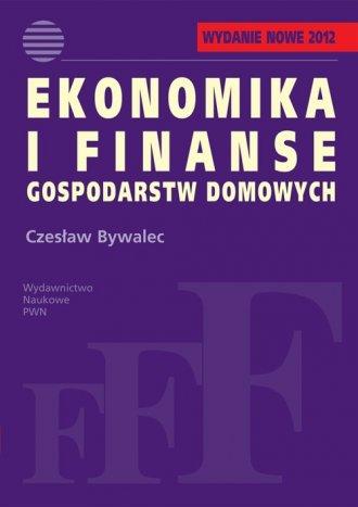 Ekonomika i finanse gospodarstw - okładka książki