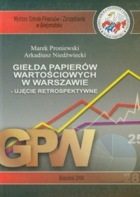 Giełda papierów wartościowych w Warszawie - okładka książki