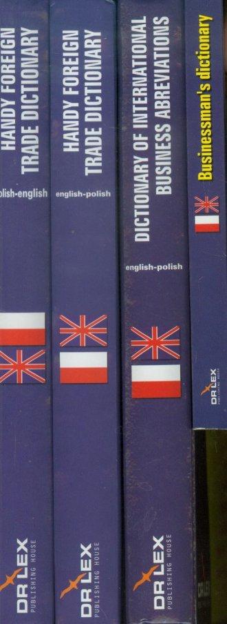 Słowniki handlu zagranicznego polsko-angielski, - okładka podręcznika