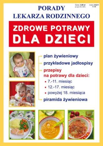 Zdrowe potrawy dla dzieci - okładka książki