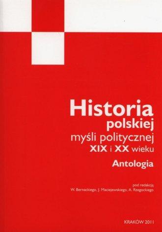 Historia polskiej myśli politycznej - okładka książki