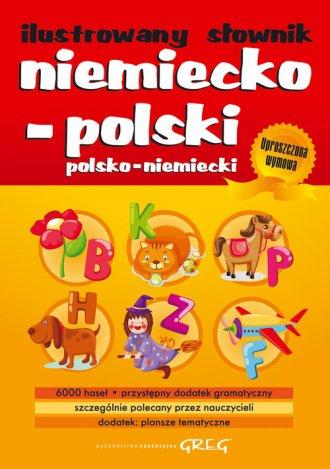 Ilustrowany słownik niemiecko-polski, - okładka książki