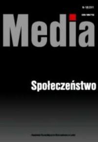 Media. Społeczeństwo 1(6)/2011 - okładka książki