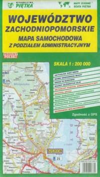 Województwo zachodniopomorskie (mapa samochodowa 1:200 000) - okładka książki