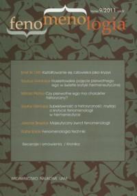 Fenomenologia nr 9/2011 - okładka książki
