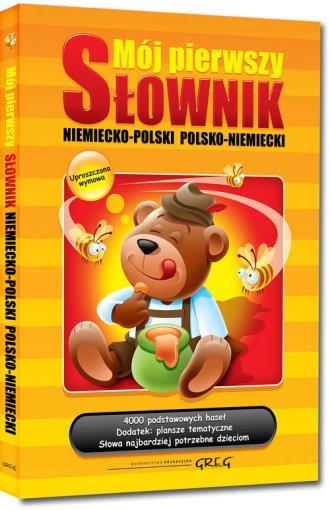 Mój pierwszy słownik niemiecko-polski, - okładka książki