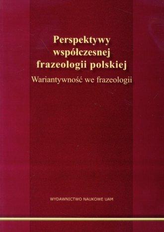 Perspektywy współczesnej frazeologii - okładka książki