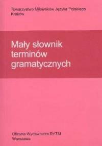 Mały słownik terminów gramatycznych - okładka książki