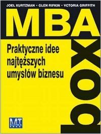 MBA-box. Praktyczne idee najtęższych umysłów biznesu - okładka książki