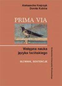 Prima via. Wstępna nauka języka - okładka książki