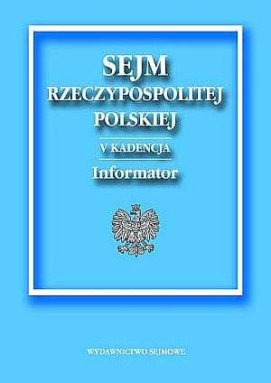 Sejm Rzeczypospolitej Polskiej - okładka książki