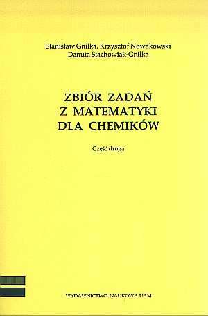 Zbiór zadań z matematyki dla chemików - okładka książki