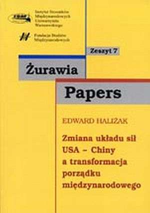 Zmiana układu sił USA - CHINY a - okładka książki