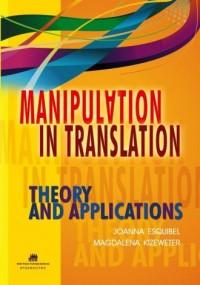Manipulation in translation - okładka książki