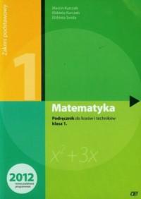 Matematyka. Klasa 1. Podręcznik - okładka podręcznika