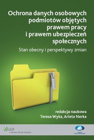 Ochrona danych osobowych podmiotów - okładka książki