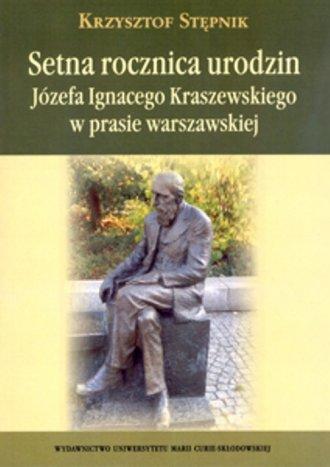 Setna rocznica urodzin Józefa Ignacego - okładka książki
