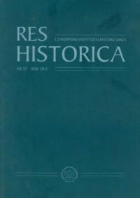 Res Historica. Tom 32 (2011) - okładka książki