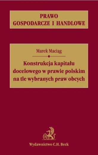 Konstrukcja kapitału docelowego - okładka książki