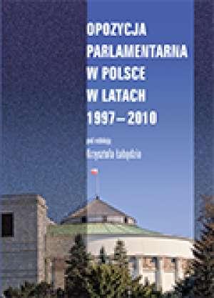 Opozycja parlamentarna w Polsce - okładka książki