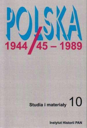 Polska 1944/45-1989. Studia i materiały - okładka książki