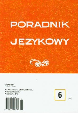 Poradnik Językowy 6/2012 - okładka książki