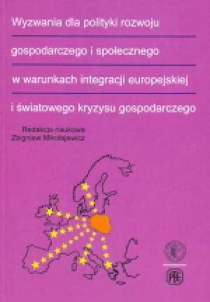 Wyzwania dla polityki rozwoju gospodarczego - okładka książki