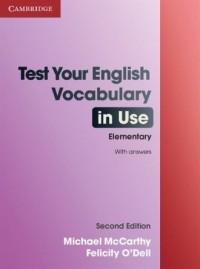 Test Your English. Vocabulary in Use. Elementary - okładka podręcznika