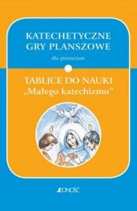 Katechetyczne gry planszowe dla gimnazjum. Tablice do nauki Małego katechizmu - okładka podręcznika